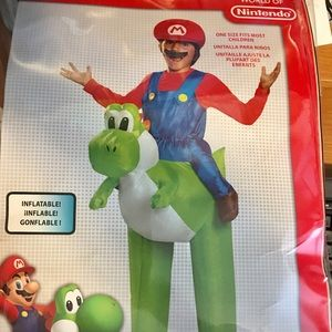Other - Kids inflatable costume includes a Mario hat